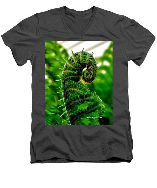 Baby Fern Men's V-Neck T-Shirt