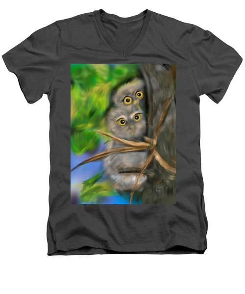 Baby Owls Men's V-Neck T-Shirt