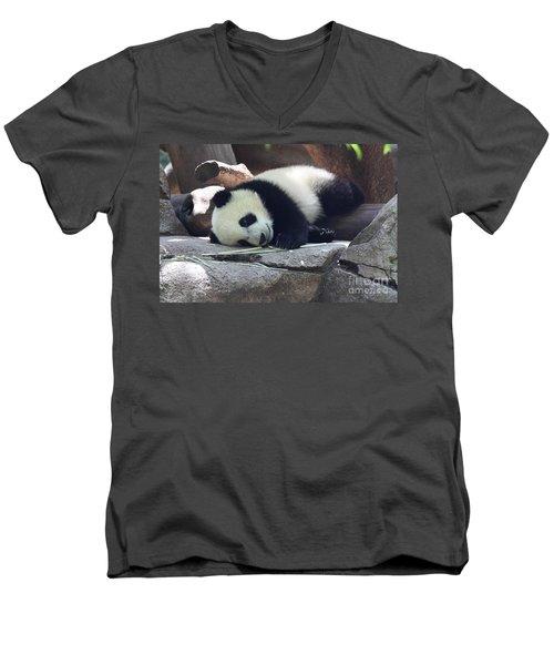 Baby Panda Men's V-Neck T-Shirt