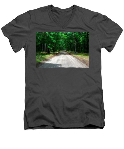 Back Roads Of South Carolina Men's V-Neck T-Shirt