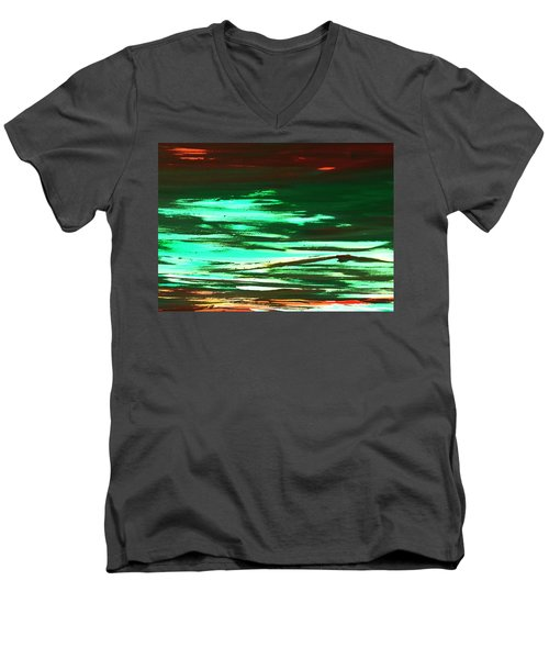 Back To Canvas The Landscape Of The Acid People Men's V-Neck T-Shirt
