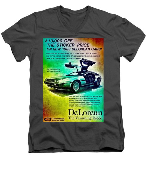 Back To The Delorean Men's V-Neck T-Shirt