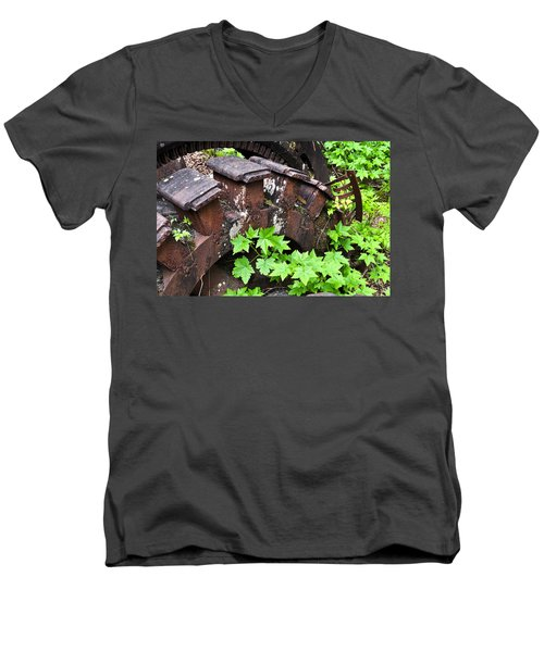 Men's V-Neck T-Shirt featuring the photograph Back To The Forest by Cathy Mahnke