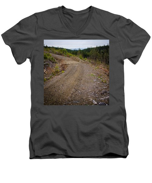4x4 Logging Road To Adventure Men's V-Neck T-Shirt