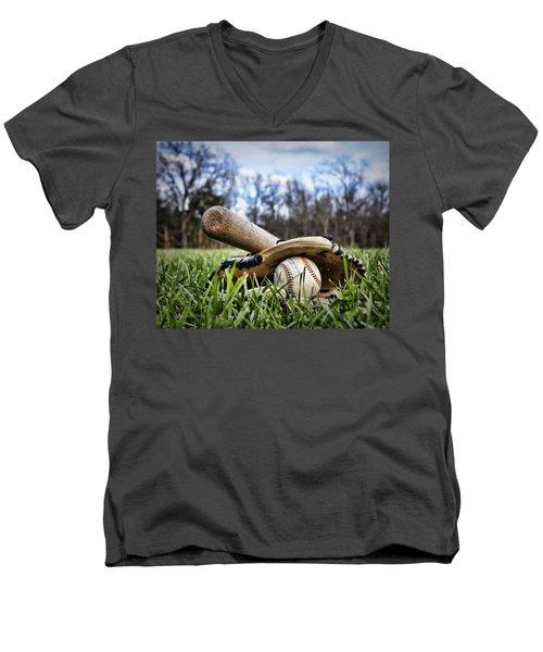 Backyard Baseball Memories Men's V-Neck T-Shirt