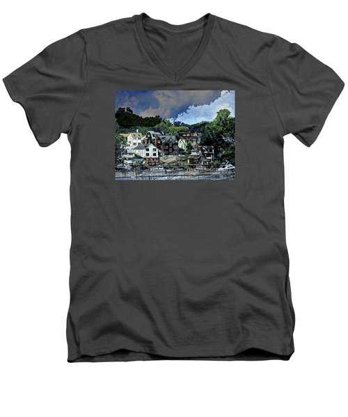 Badger Island Men's V-Neck T-Shirt