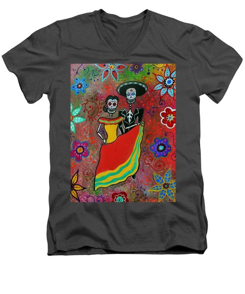 Bailar Couple Men's V-Neck T-Shirt