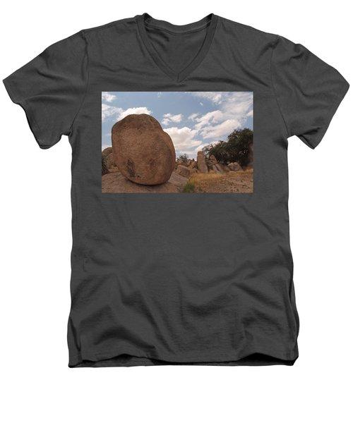 Balanced Rock Men's V-Neck T-Shirt