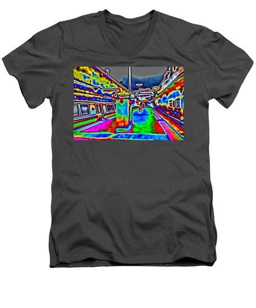 Balboa Park Men's V-Neck T-Shirt by Nick David