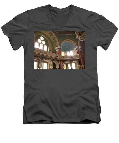 Balcony Of Sofia Synagogue Men's V-Neck T-Shirt