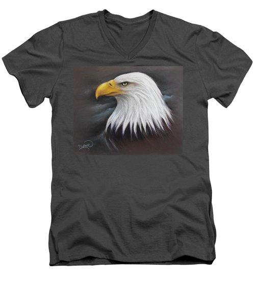 Bald Eagle Men's V-Neck T-Shirt by Patricia Lintner