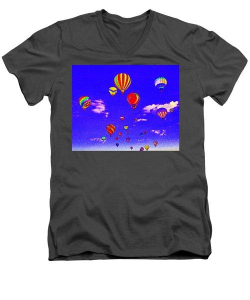 Ballon Race Men's V-Neck T-Shirt