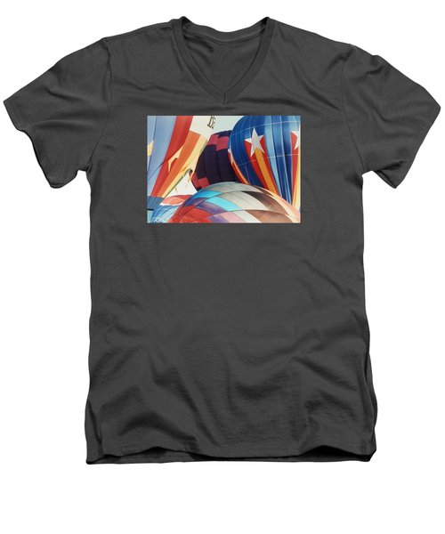 Men's V-Neck T-Shirt featuring the photograph Miami Balloon Fesitval by Belinda Lee