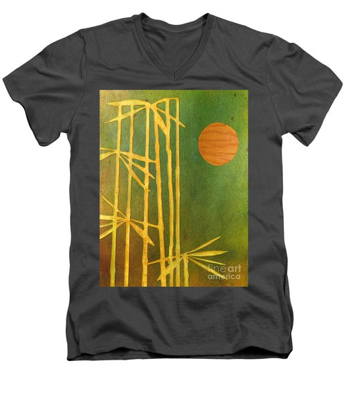 Bamboo Moon Men's V-Neck T-Shirt by Desiree Paquette