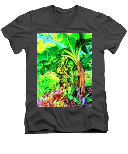 Bananas In Lahaina Maui Men's V-Neck T-Shirt