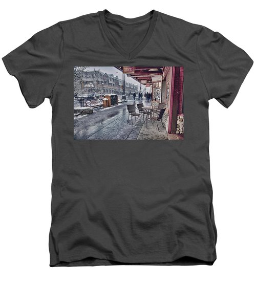Banff Avenue Men's V-Neck T-Shirt