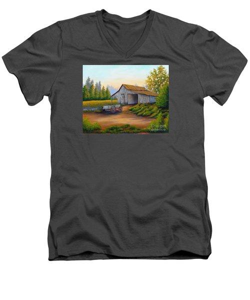 Barn And Wagon Men's V-Neck T-Shirt