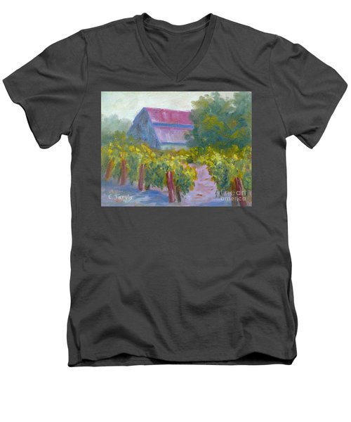 Barn In Vineyard Men's V-Neck T-Shirt