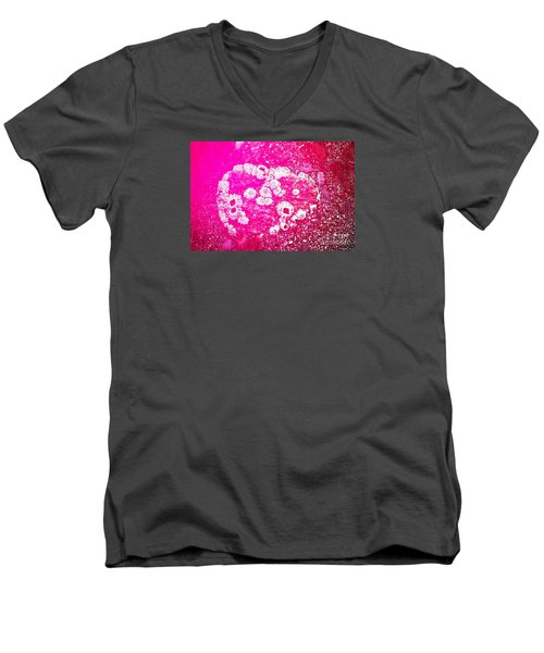 Men's V-Neck T-Shirt featuring the photograph Barnacle Heart by Cynthia Lagoudakis