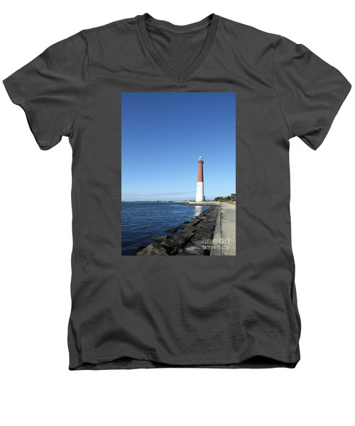 Barnegat Light - New Jersey Men's V-Neck T-Shirt