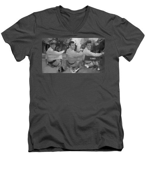 Barney Andy And Gomer Men's V-Neck T-Shirt