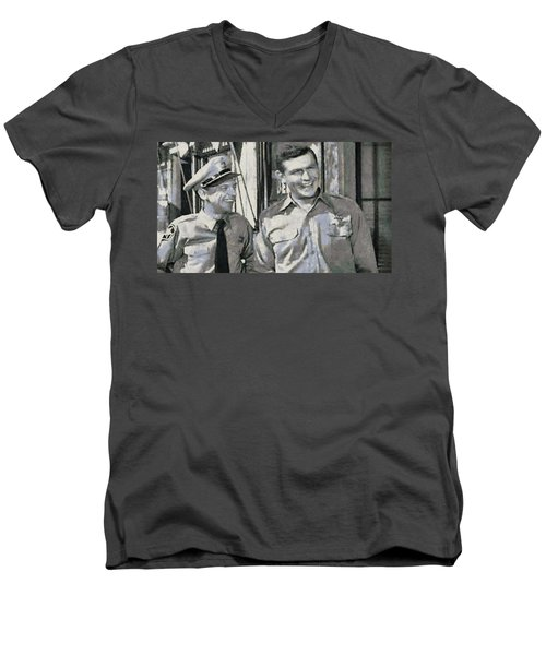 Barney Fife And Andy Taylor Men's V-Neck T-Shirt
