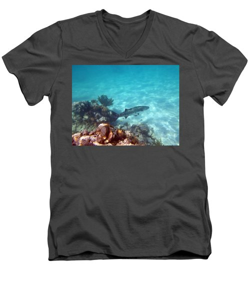 Men's V-Neck T-Shirt featuring the photograph Barracuda by Eti Reid