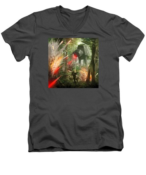 Barrage Attack Men's V-Neck T-Shirt