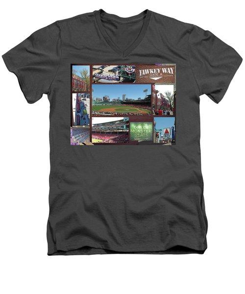 Baseball Collage Men's V-Neck T-Shirt