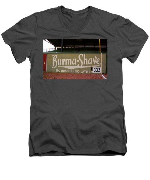 Baseball Field Burma Shave Sign Men's V-Neck T-Shirt