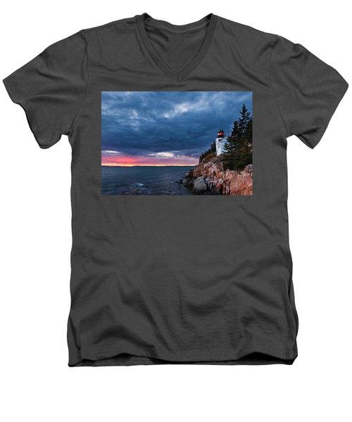 Bass Harbor Attitude Men's V-Neck T-Shirt