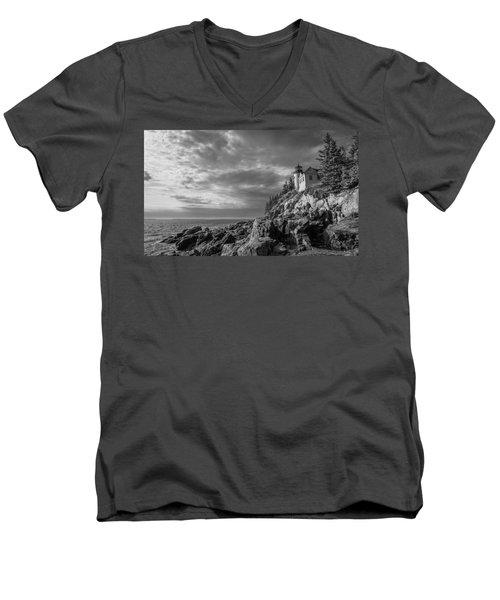 Bass Harbor Views Men's V-Neck T-Shirt