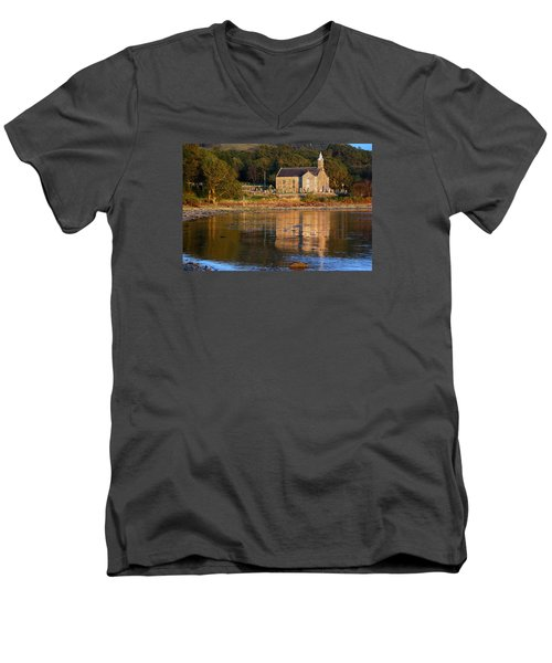 Men's V-Neck T-Shirt featuring the photograph Bathed In Gods Light by Wendy Wilton