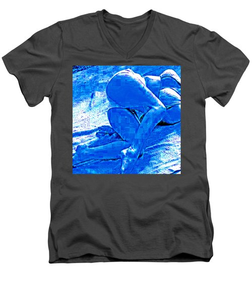 Bathing In Blu Light Men's V-Neck T-Shirt