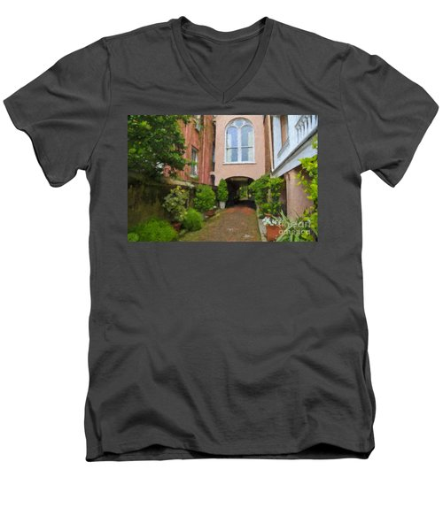 Battery Carriage House Inn Alley Men's V-Neck T-Shirt