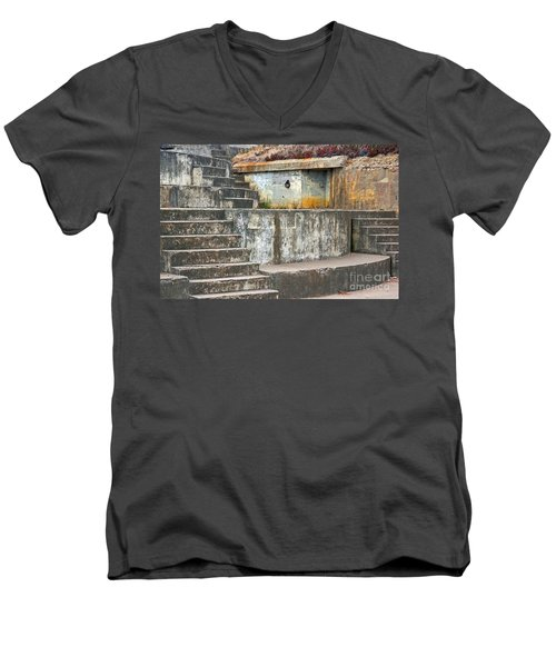 Men's V-Neck T-Shirt featuring the photograph Battery Chamberlin by Kate Brown