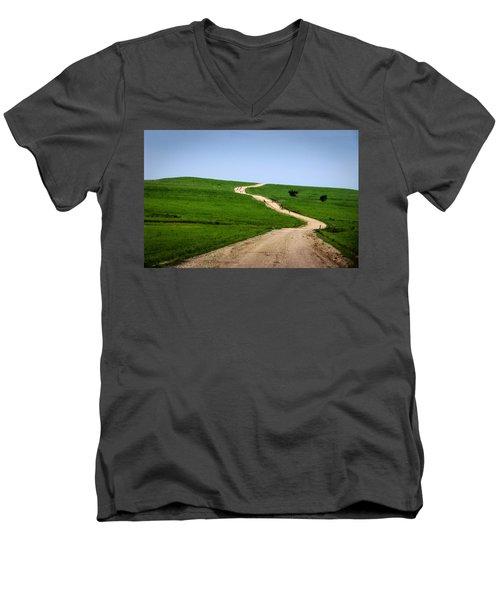 Battle Creek Road Teamwork Men's V-Neck T-Shirt