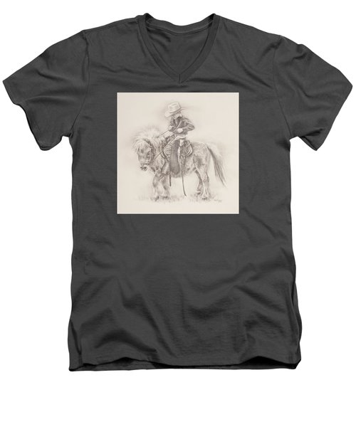 Battle Of Wills Men's V-Neck T-Shirt by Kim Lockman