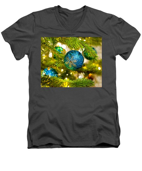 Bauble In A Christmas Tree  Men's V-Neck T-Shirt
