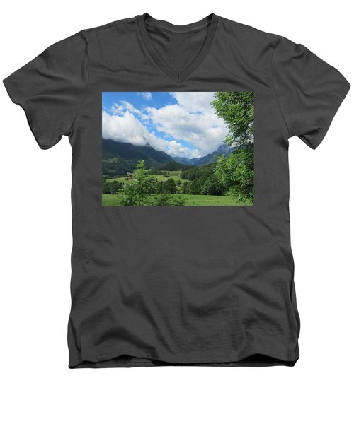 Bavarian Countryside Men's V-Neck T-Shirt by Pema Hou