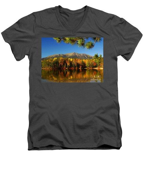 Baxter Fall Reflections  Men's V-Neck T-Shirt by Alana Ranney