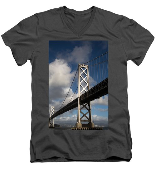 Bay Bridge After The Storm Men's V-Neck T-Shirt