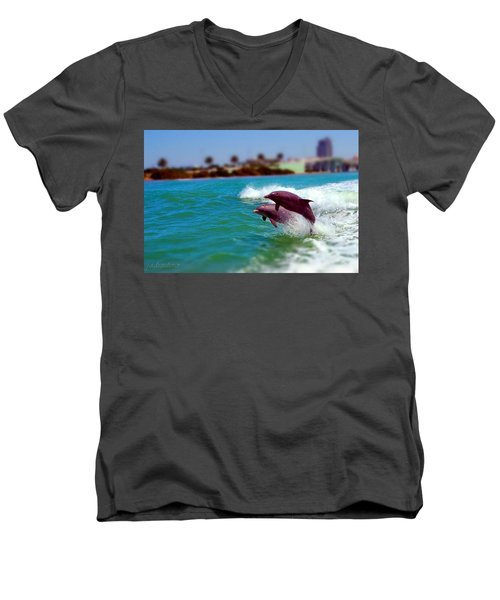 Bay Dolphins Men's V-Neck T-Shirt