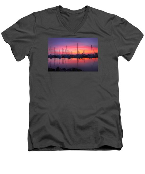 Bayfield Wisconsin Magical Morning Sunrise Men's V-Neck T-Shirt
