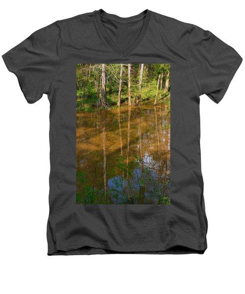 Bayou Reflections Men's V-Neck T-Shirt