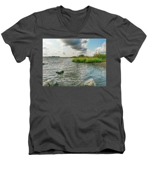 Bayou Sale Fishing Hole Men's V-Neck T-Shirt