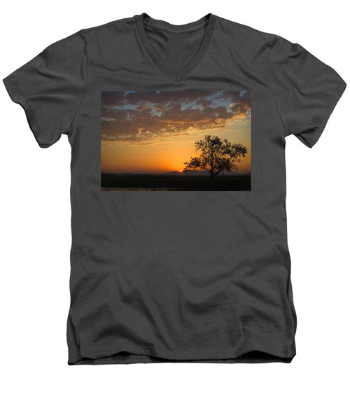 Men's V-Neck T-Shirt featuring the photograph Bayview Sunset by Sonya Lang