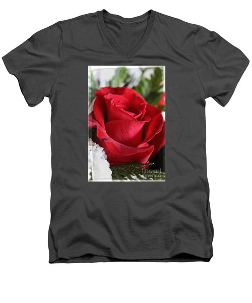 Be Inspired With Flowers And Art Men's V-Neck T-Shirt by Ella Kaye Dickey