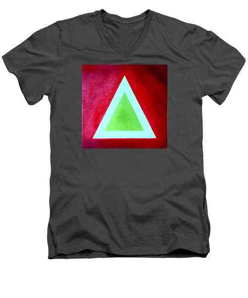 Be Outstanding Men's V-Neck T-Shirt by Thomas Gronowski