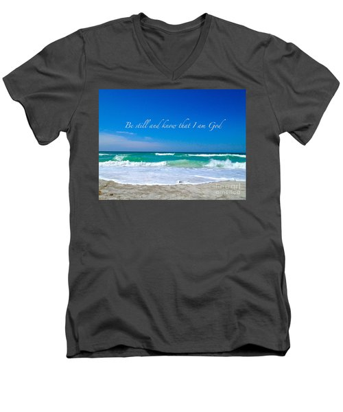 Men's V-Neck T-Shirt featuring the photograph Be Still #4 by Margie Amberge